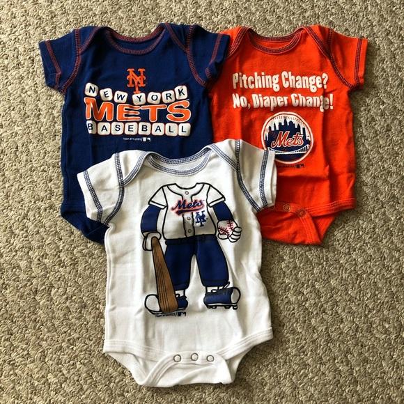 on sale 190f2 b50a6 New York Mets Baby Boy Onesies, Set of 3